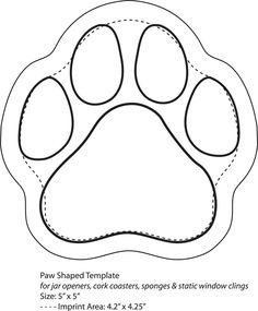 dog templates printable | Click Here to Download Paw Shaped Template GO DAWGS