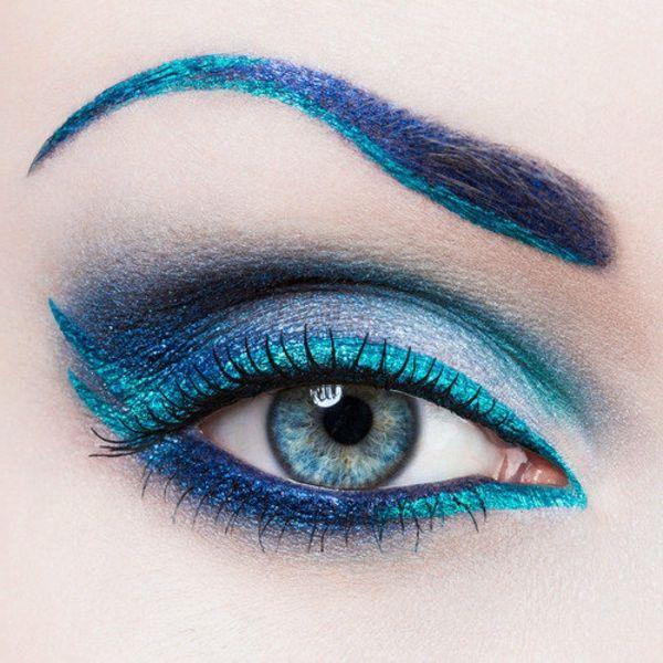 auffälliges schminken für blaue augen