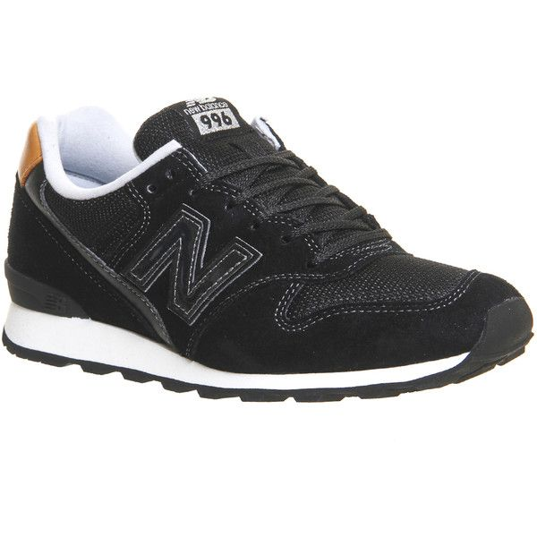 New Balance Wr996 Trainers ($99) ❤ liked on Polyvore featuring shoes, sneakers, black tan, hers trainers, trainers, new balance, kohl shoes, lightweight sneakers, tan sneakers and black shoes