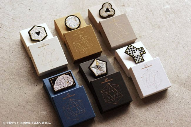 Mathematical Graphic Brooch 数学ブローチ006:ピタゴラスの定理 - Hedgehog online shop
