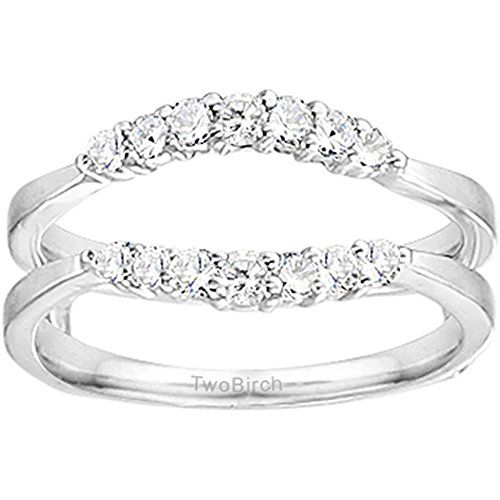 0.35CT Diamonds Curved Wedding Ring Guard Enhancer set in Sterling Silver (0.35CT TWT Diamonds G-H I2-I3) repin & like. listen to Noelito Flow songs. Noel. Thanks https://www.twitter.com/noelitoflow  https://www.youtube.com/user/Noelitoflow