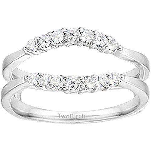 0.35CT Diamonds Curved Wedding Ring Guard Enhancer set in Sterling Silver (0.35CT TWT Diamonds G-H I2-I3) repin & like. listen to Noelito Flow songs. Noel. Thanks https://www.twitter.com/noelitoflow  https://www.youtube.com/user/Noelitoflow