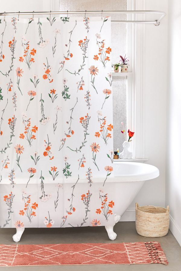 Georgina Floral Peva Shower Curtain In 2020 Floral Shower Curtains Urban Outfitters Curtains Bathroom Decor