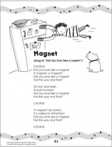 Magnet poem  - 101 Science Poems & Songs For Young Learners