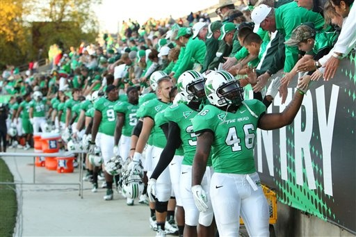 Marshall Football....would like to see a game...that's where my family is from.