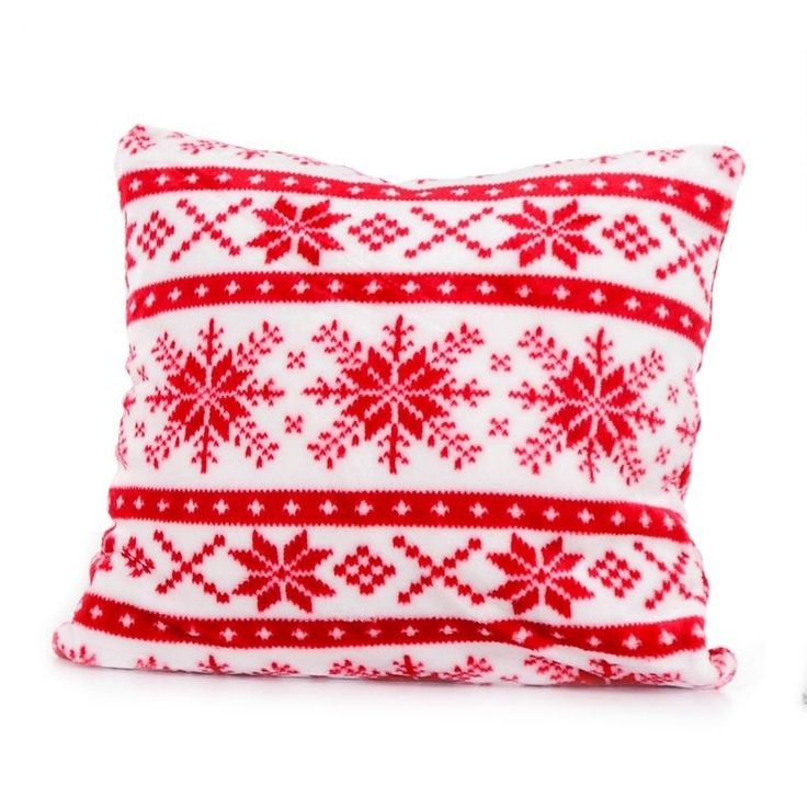 Czerwona bożonarodzeniowa poszewka na poduszkę