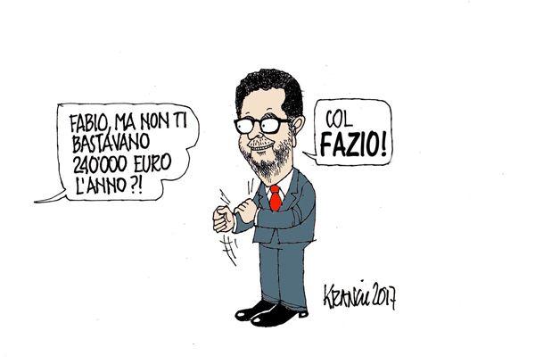Fabio Fazio: cuore a sinistra, portafoglio a destra.