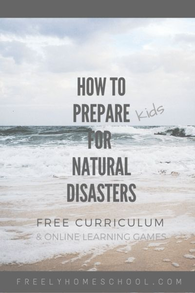 Full lesson plans on preparing for a natural disaster for 1st-12th.  Online disaster preparedness learning games for elementary and middle school kids.