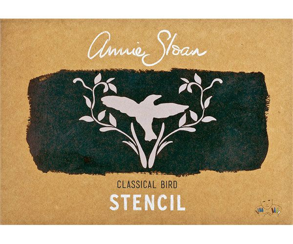 Sjabloon+Annie+Sloan+Classical+Bird+is+een+prachtige+afbeelding+van+een+vogel+omringd+door+takjes.+Formaat:+Stencil+A4.+Materiaal+sjabloon:+kunststof,+afwasbaar+en+vaker+te+gebruiken.+Wordt+geleverd+in...
