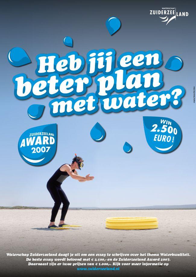 Simons en Boom: Poster, Campagne Waterschap Zuiderzeeland - Zuiderzeeland Award 2007