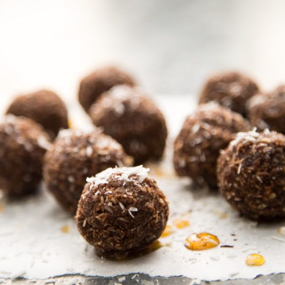 Choco-nut energy balls by Nadia Lim | NadiaLim.com