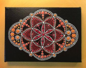 Original punto de arte Mandala suave por DotArtMandalaByDonna
