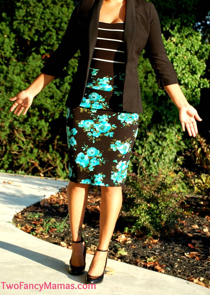 Business outfit, pencil skirt, blazer. LuLaRoe cassie skirt Twofancymamas.com or https://www.facebook.com/groups/2fancymamas #lularoefashion