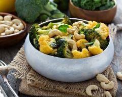 Curry de chou-fleur et de brocoli aux noix de cajou Ingrédients