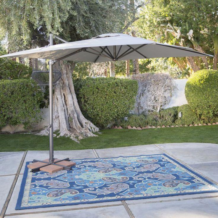 Square Patio Umbrella: Coral Coast 8.5-ft. Square Offset Patio Umbrella - AG5ASQ-00-4215