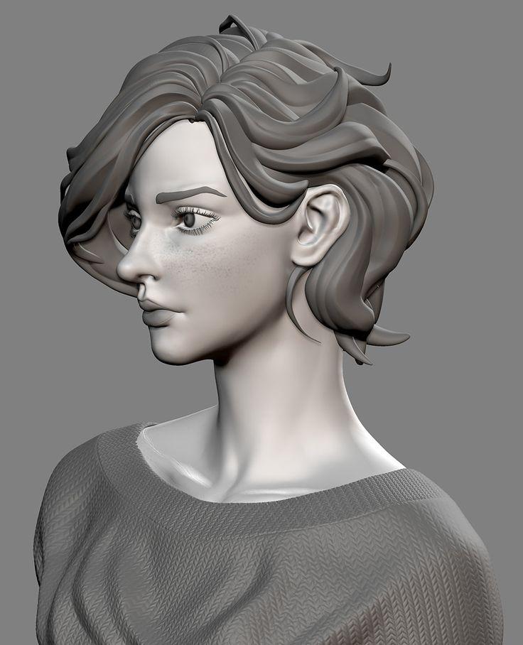 Portrait of Lelianna, DIXING SUN on ArtStation at https://www.artstation.com/artwork/LE2qv