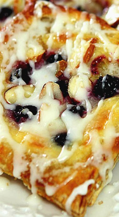 Cheese, Blueberry and Almond Danish