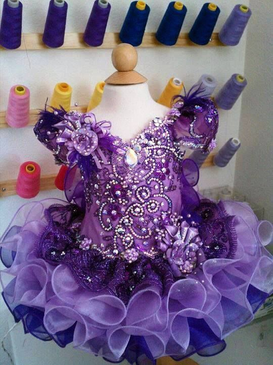 Purple Pageant dress - Royalty Designs