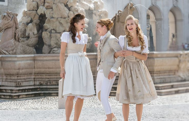 Salzburg- Susanne Spatt Natural toned dirndls ~ love the jacket (have a very similar one)
