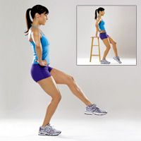 Try these Balancing Squats... make it harder by holding a dumbbell in each hand (via @Prevention Magazine)