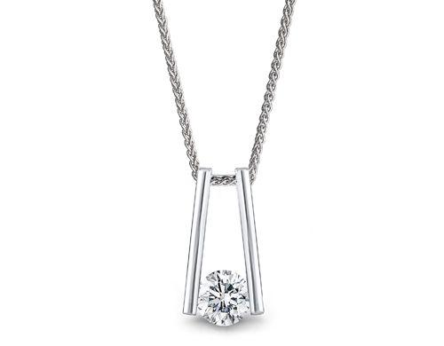 Millennium diamond pendant set in white gold