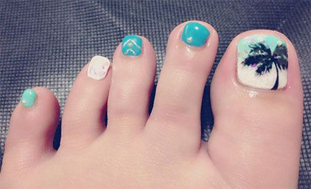 Simple Summer Inspired Toe Nail Art Designs, Ideas, Trends ...