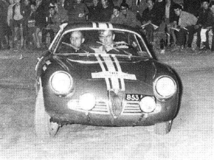1962 Tour de Corse: Jean Rolland, 4th, Alfa Romeo Giulietta SZ