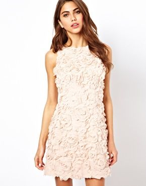 Coast Cambrone Dress with Textured Flower Detail