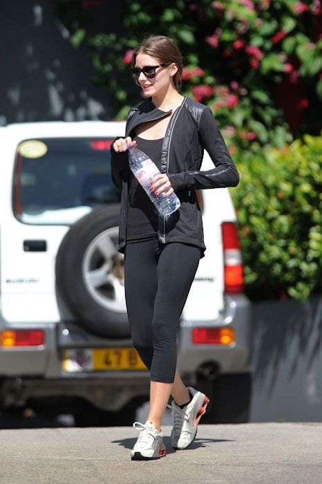 American socialite, Olivia Palermo in her workout gear...