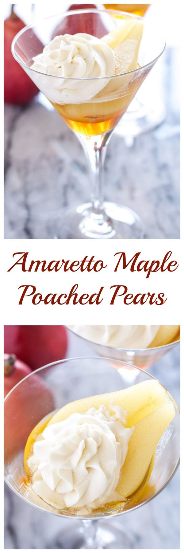 Amaretto Maple Poached Pears | Recipe Runner | Pears are perfect for poaching! The amaretto maple combo is the best I've ever had! #CleverlyPoached #CleverGirls