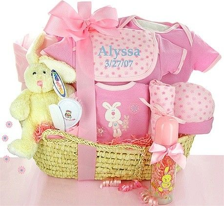 Baby Gift Baskets | Gift Baskets Created : New Born Baby Girl Gift Basket