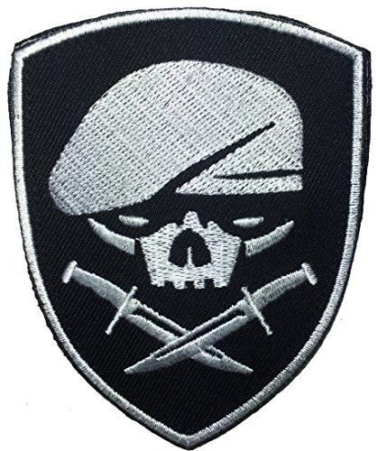 "Special Forces Patches. - High Quality Embroidered Patch - Velcro Hook backing for attachment to Tactical Hats and Gear - Great for Jackets, Vests, Hats, Bags and Costumes - 3.5""x2.75"" Made Tough and"