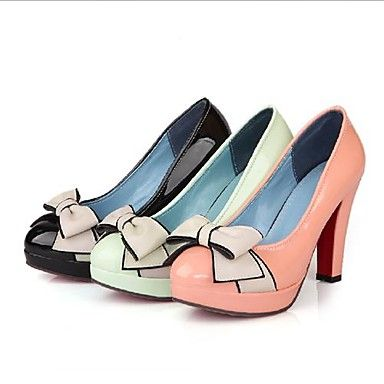 Women's Shoes Round Toe Stiletto Heel Heels with Bowknot Shoes More Colors available – USD $ 29.99
