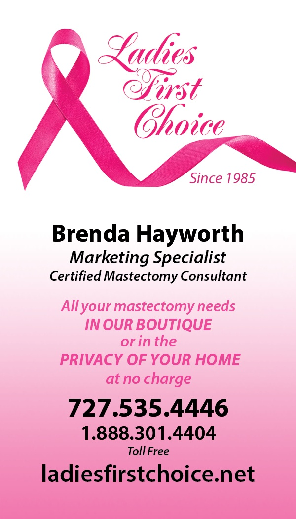 Ladies First Choice Is A Stylish Boutique In Clearwater Florida With Over 14 Lines Of Mastectomy Products And Apparel