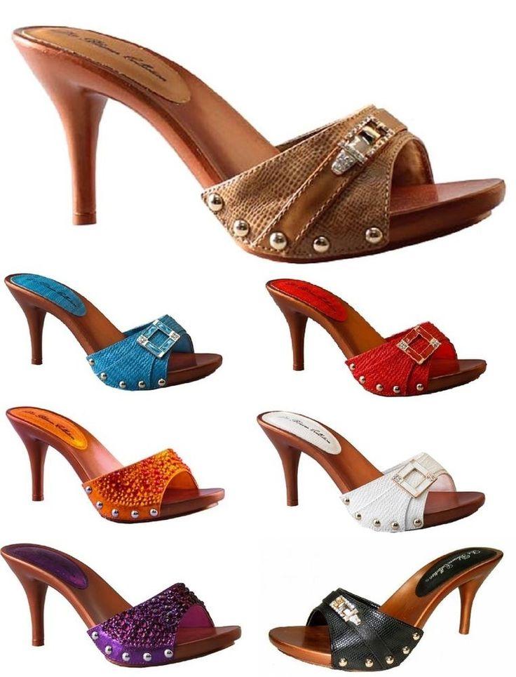 Super Lightweight *Sexy Strappy Slide On Sandals *High Heel Platform #Blossom #OpenToe #Party