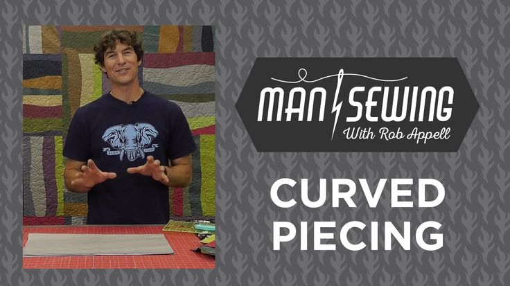 LOVE THIS SO MUCH!!!! Quilts with Curves: Quilting Tutorial with Rob Appell of Man Sewing