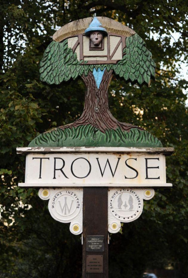 Trowse village sign in Norfolk, England . Picture: Denise Bradley
