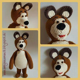Wundervolle Amigurumi Welt: Der Bär (Masha & the Bear) free pattern (de)