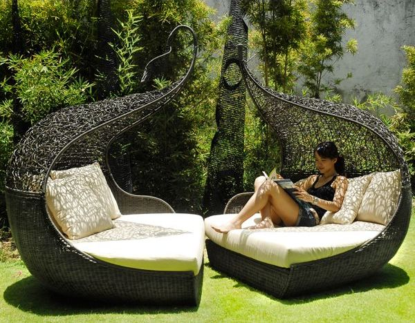 Outdoor furniture to die for.