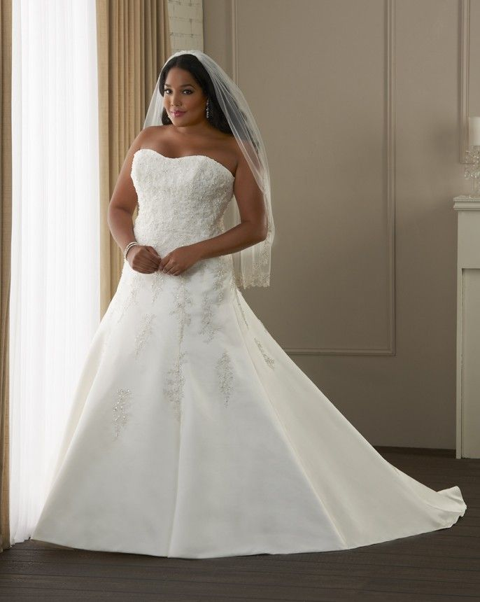 88 best images about plus size wedding dresses on for Wedding dress for fat