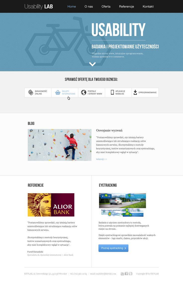UX design for our website - usability-lab.pl