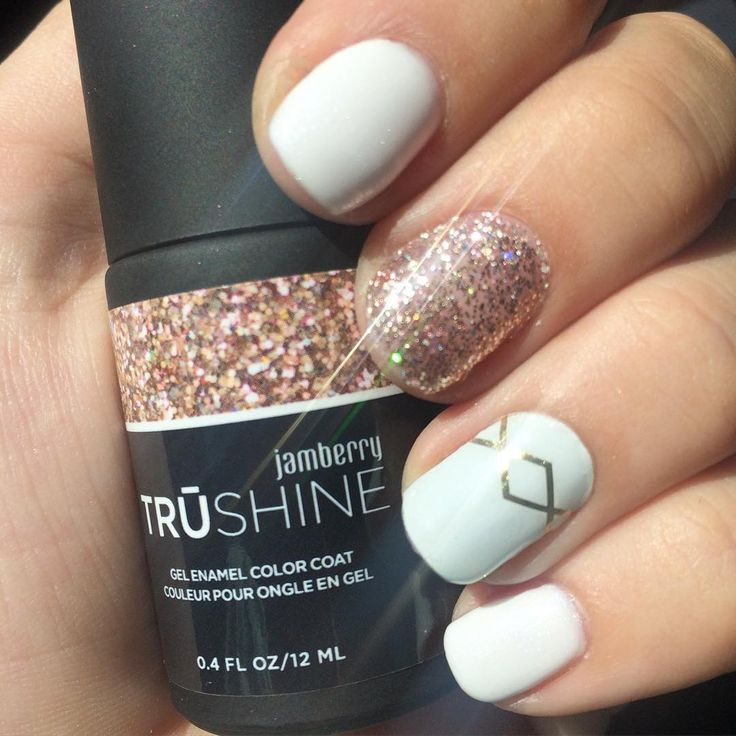 Jamberry TruShine gel  Porcelain and Party Dress with Gatsby wrap