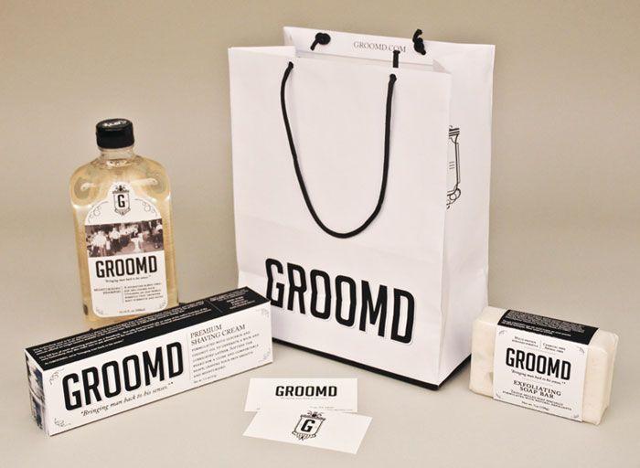 Ragan de la Rosa - Groomd #paperbag #wrapping #label #businesscard