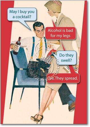 Bad For Legs Naughty Humorous Birthday Paper Card Nobleworks, lol