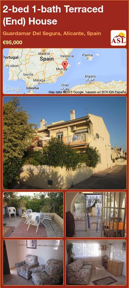 2-bed 1-bath Terraced (End) House in Guardamar Del Segura, Alicante, Spain ►€95,000 #PropertyForSaleInSpain