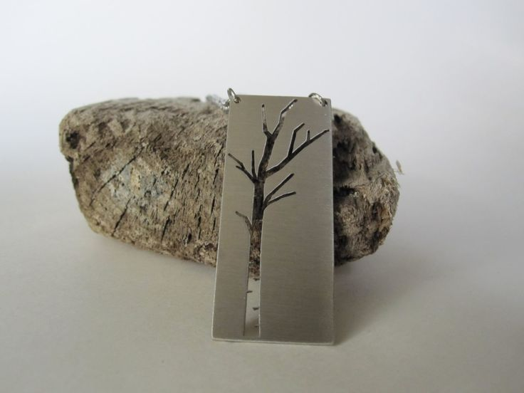 Birch Tree Necklace - Stainless Steel by Eighty8Eighty9 on Etsy