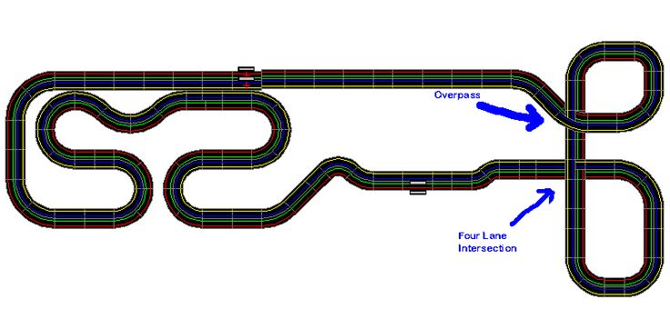micro scalextric layout - Google Search