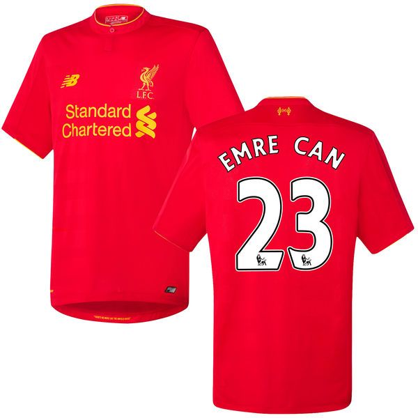 Emre Can Liverpool FC New Balance 2016 Replica Home Jersey - Red - $74.99