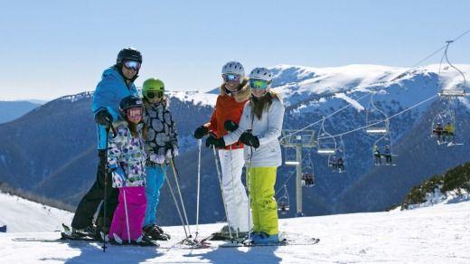 Kids ski free at Falls Creek. Photo: Supplied