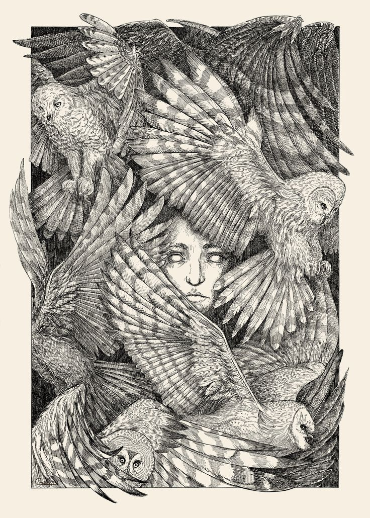 """Daughter of Owls"" by CoalRye.deviantart.com on #DeviantArt"